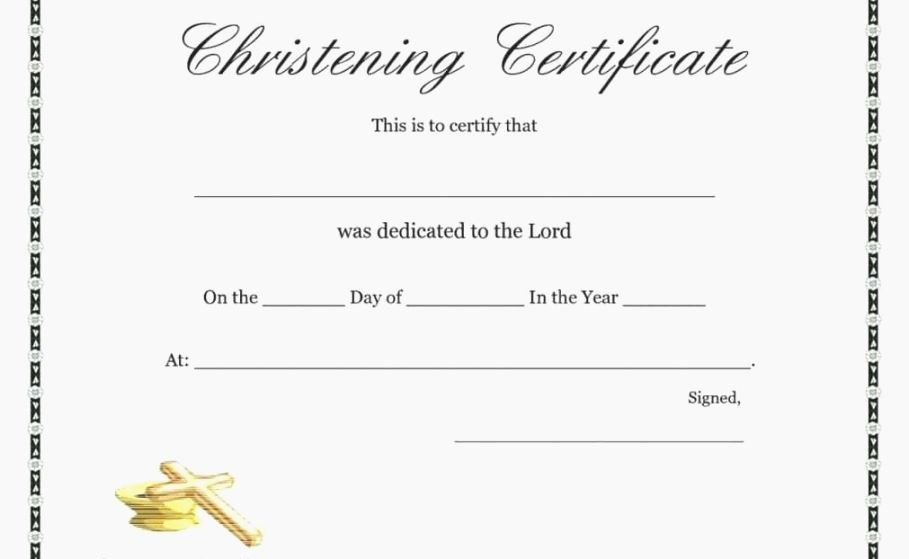 Free Baptism Certificate Template New top Exhilarating Printable Baptism Certificate