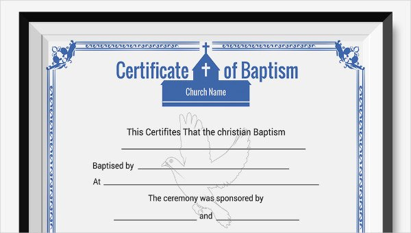 Free Baptism Certificate Template Word Awesome Baptism Certificate Template 10 Free Pdf Documents