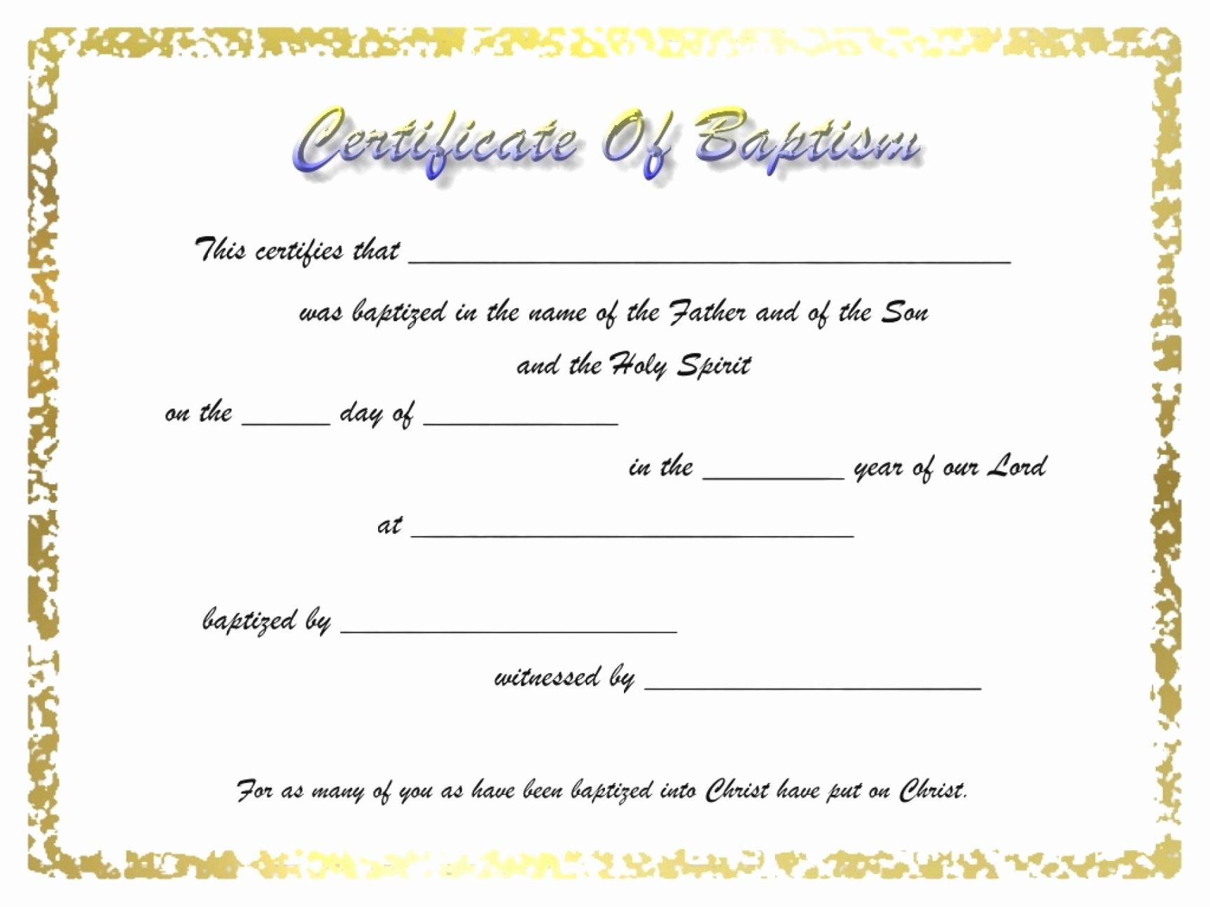 Free Baptism Certificate Template Word Unique Editable 010 Free Baptism Certificate Template Word