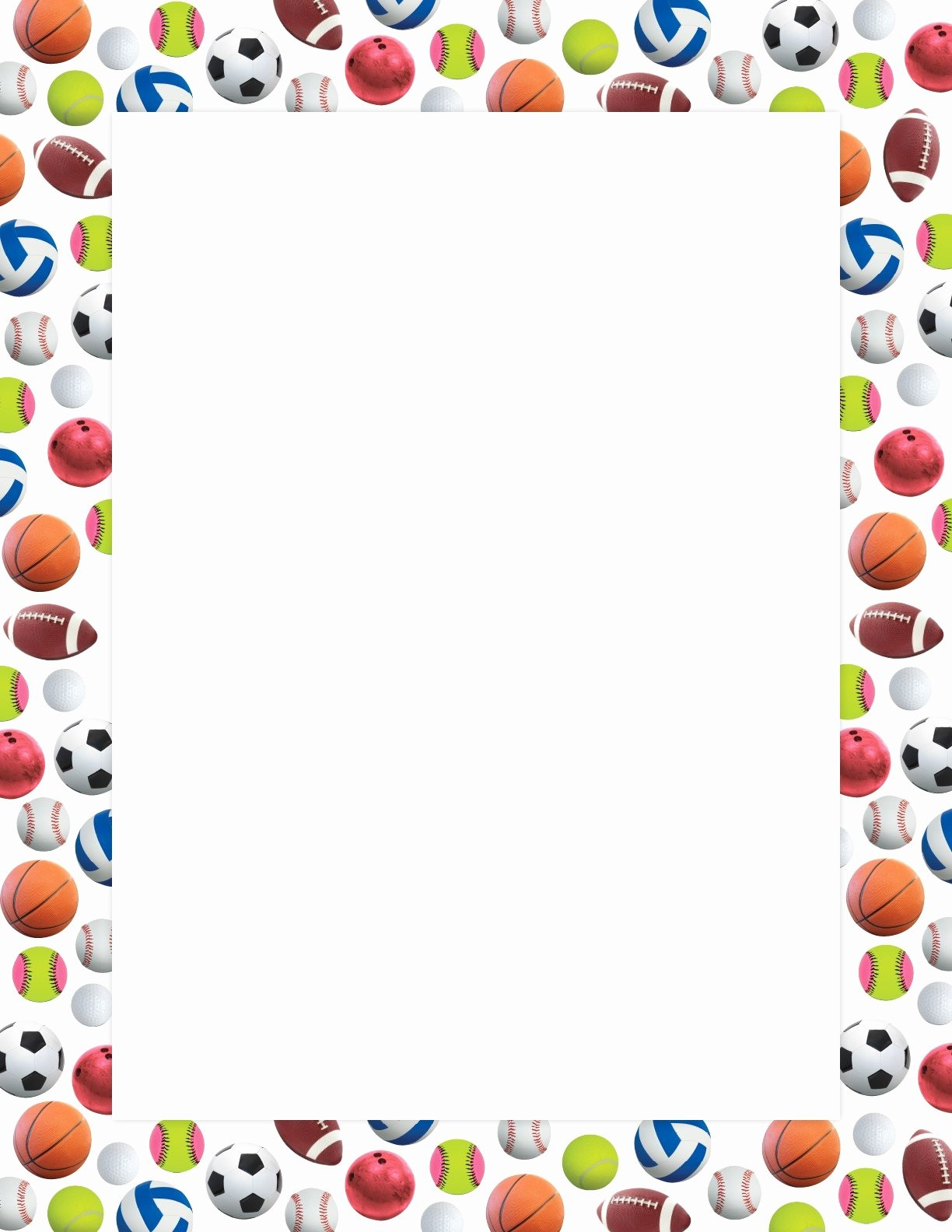 Free Baseball Borders for Word Documents Awesome Sports Ball Border Poster