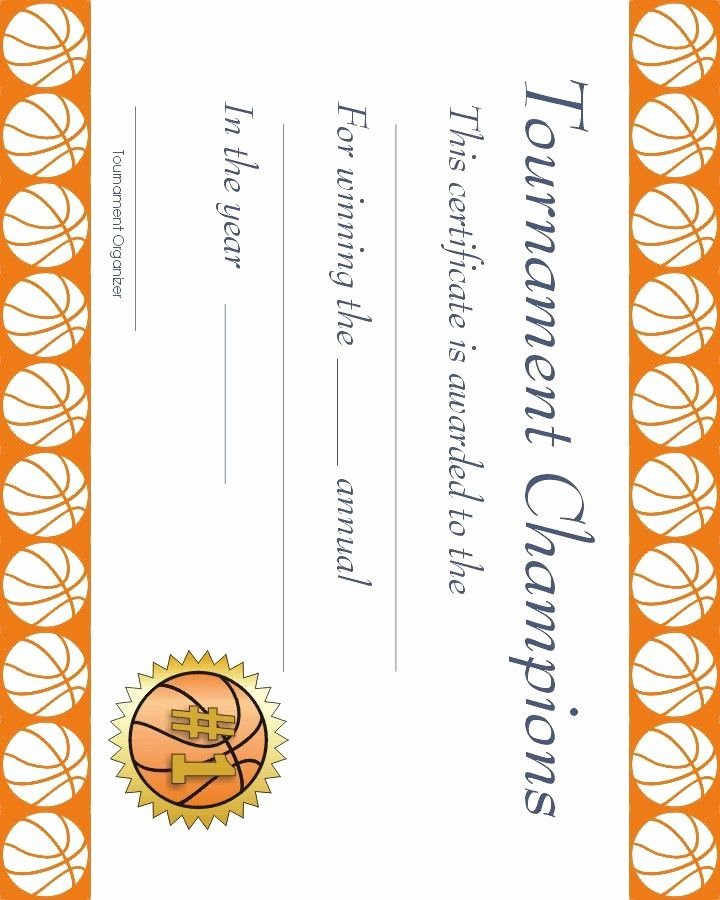 Free Basketball Certificates to Print Awesome Free Printable Sports Certificate Basketball Award