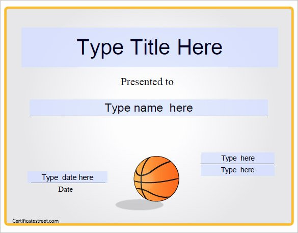 Free Basketball Certificates to Print Best Of 27 Basketball Certificate Templates Psd