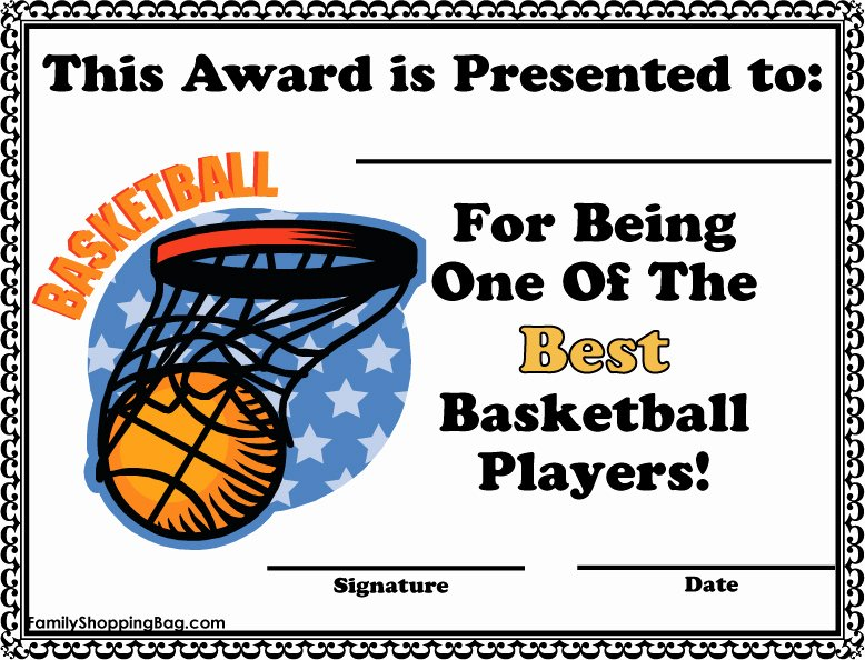 Free Basketball Certificates to Print Elegant Dltk Printable Awards with Frompo
