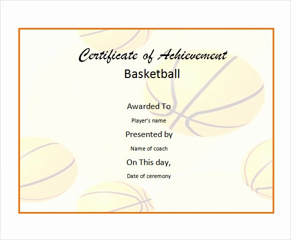 Free Basketball Certificates to Print Lovely 20 Sample Basketball Certificate Templates In Pdf