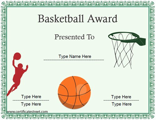 Free Basketball Certificates to Print Lovely Sports Certificates Basketball Certificate