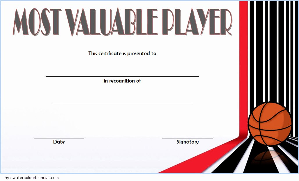 Free Basketball Certificates to Print New Download 10 Basketball Mvp Certificate Editable Templates