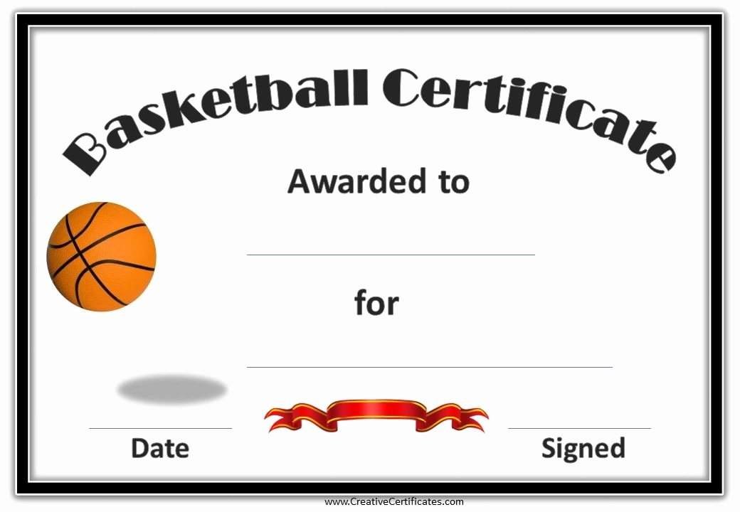 Free Basketball Certificates to Print New Printable Basketball Certificate This is A Template which