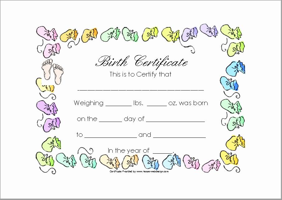 Free Birth Certificate Template Unique 14 Free Birth Certificate Templates In Ms Word & Pdf