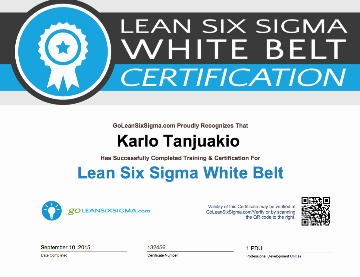 Free Black Belt Certificate Template Beautiful Goleansixsigma White Belt Certificate Example