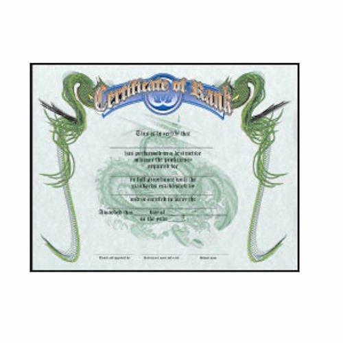 Free Black Belt Certificate Template Best Of Martial Arts Karate Taekwondo Rank Certificates Blank