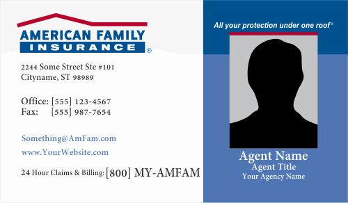 Free Blank Insurance Card Template Best Of order American Family Insurance Business Card Templates