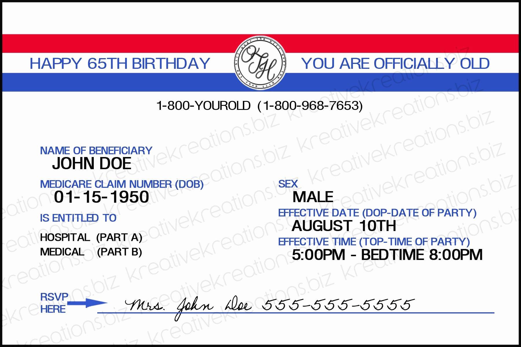 Free Blank Insurance Card Template Elegant Medicare Card Template Invitation Templates