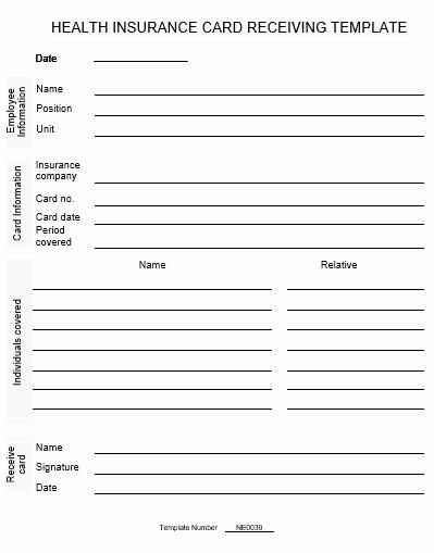 Free Blank Insurance Card Template New Ne0039 Health Insurance Card Receiving Template – English