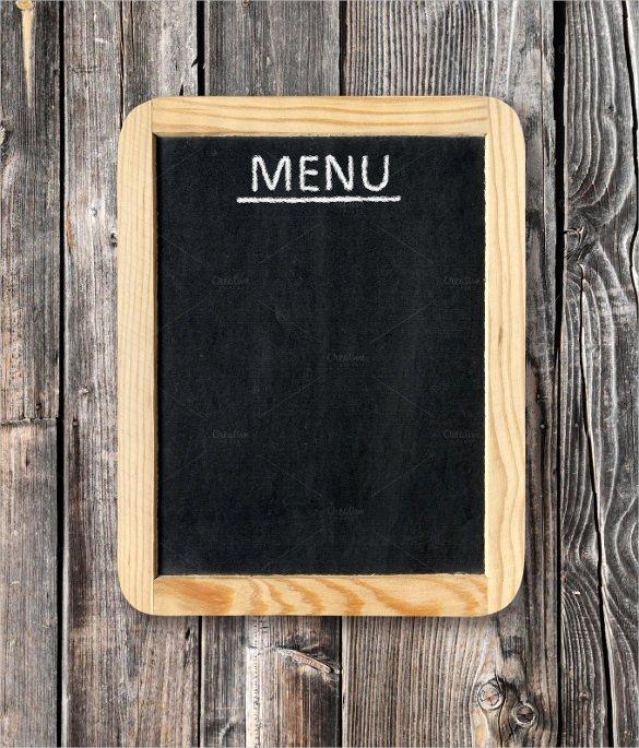 Free Blank Menu Templates Awesome 33 Menu Board Templates – Free Sample Example format
