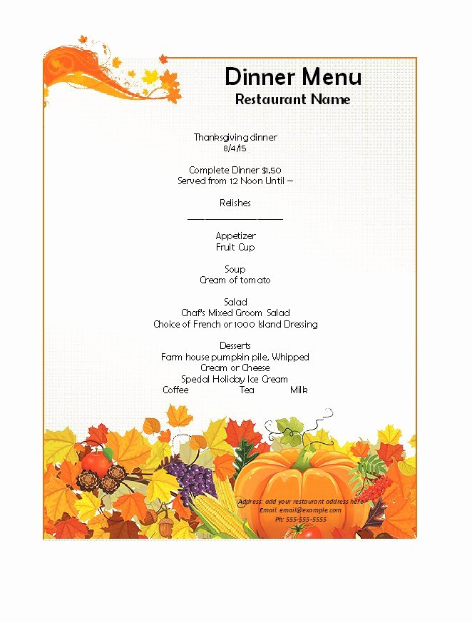 Free Blank Menu Templates Best Of 31 Free Restaurant Menu Templates & Designs Free