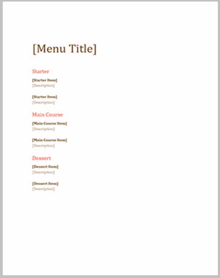 Free Blank Menu Templates Fresh 36 Absolutely Free Menu Templates Ai Docs Pages