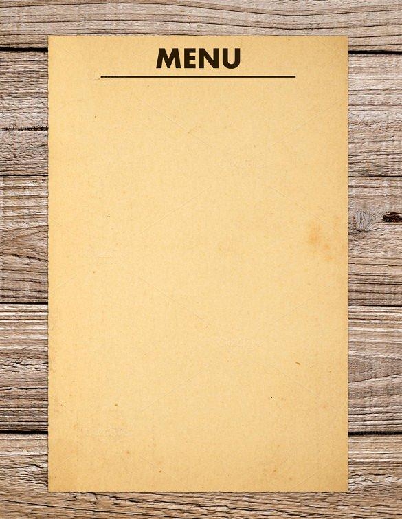 Free Blank Menu Templates New 37 Blank Menu Templates Pdf Ai Psd Docs Pages