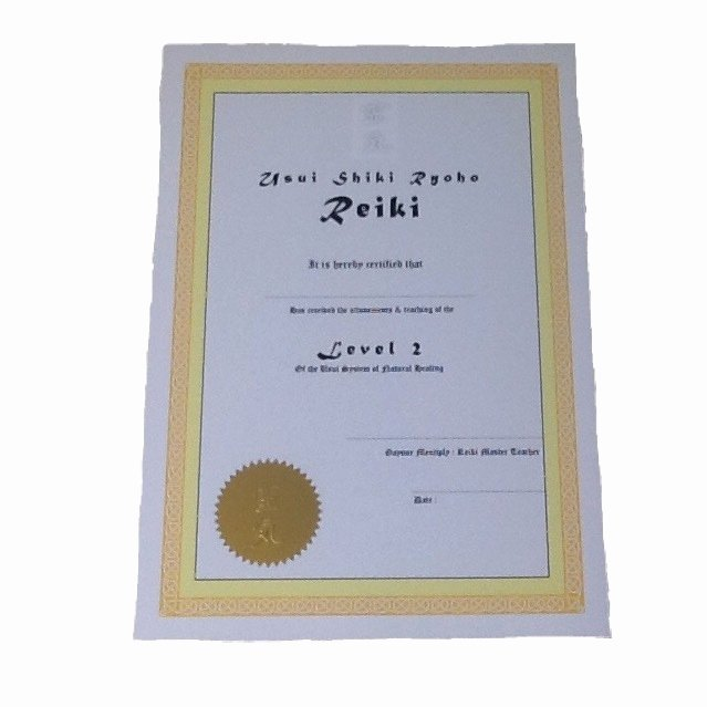 Free Blank Reiki Certificates Best Of Buy Bespoke Reiki Ii Certificates Made to order