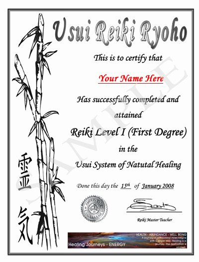 Free Blank Reiki Certificates Luxury Templates for Gift Certificates for Reiki