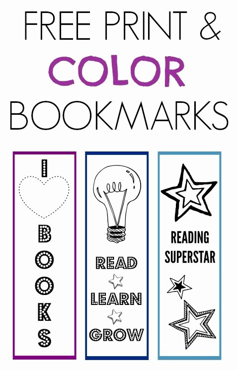 Free Bookmarks for Schools Best Of National Book Month Print & Color Bookmarks
