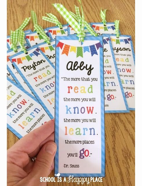 Free Bookmarks for Schools Lovely End Of the Year Student Gift Idea Free Editable Bookmarks