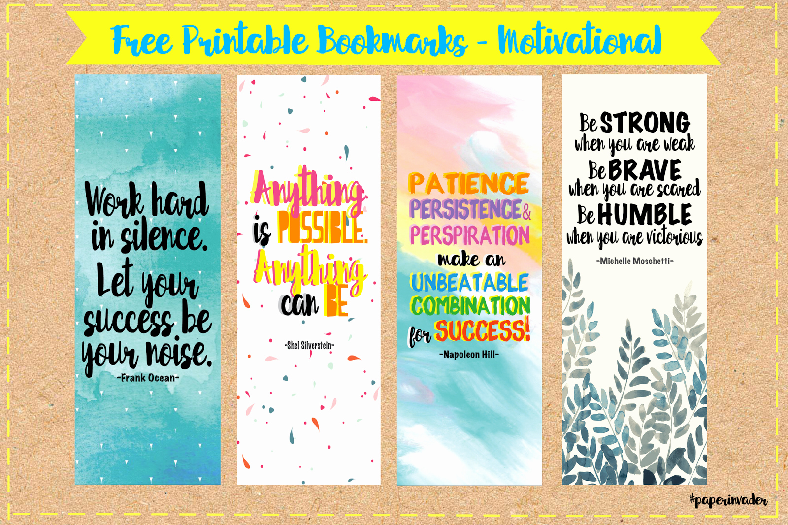Free Bookmarks for Schools Lovely Paper Invader Free Printable Bookmarks Quotes