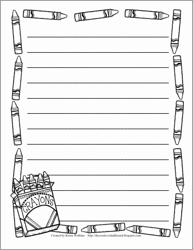 Free Border Templates for Teachers Unique 9 Free Writing Paper Templates with Borders and Lines