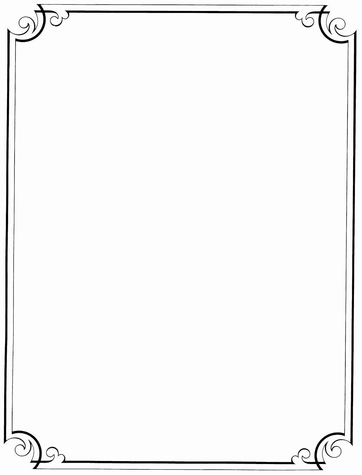 Free Borders for Publisher Unique Black and White Page Borders Free Download Clip Art