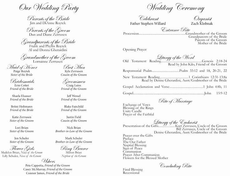 Free Catholic Wedding Ceremony Program Template Awesome 84 Best Wedding Programs Images On Pinterest