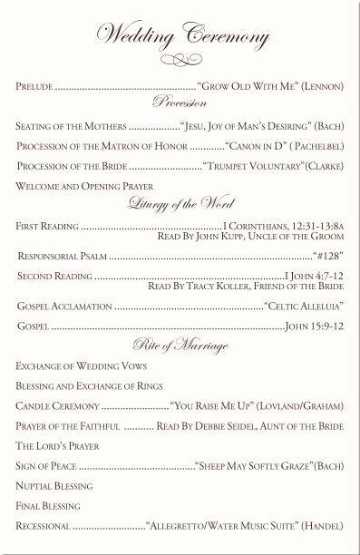 Free Catholic Wedding Ceremony Program Template Best Of Catholic Mass Wedding Ceremony Catholic Wedding Traditions