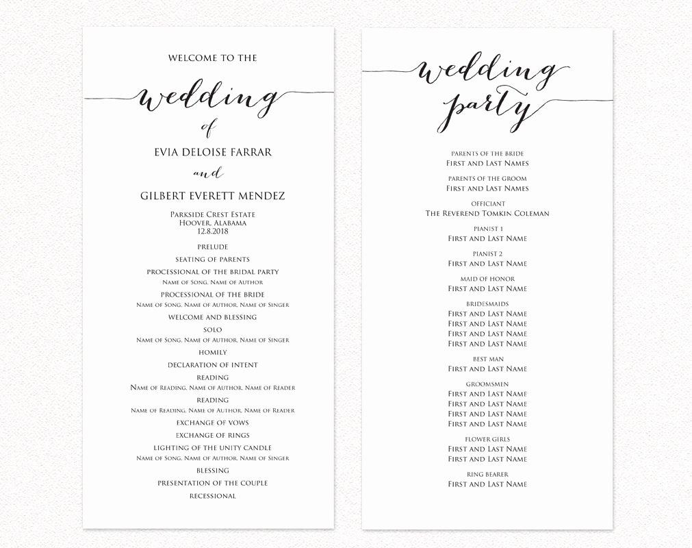 Free Catholic Wedding Ceremony Program Template Best Of Wedding Ceremony Program Templates · Wedding Templates and