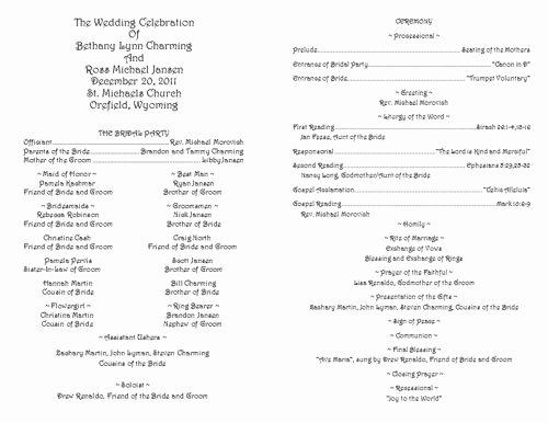 Free Catholic Wedding Ceremony Program Template Inspirational Creative Wedding Programs Wedding