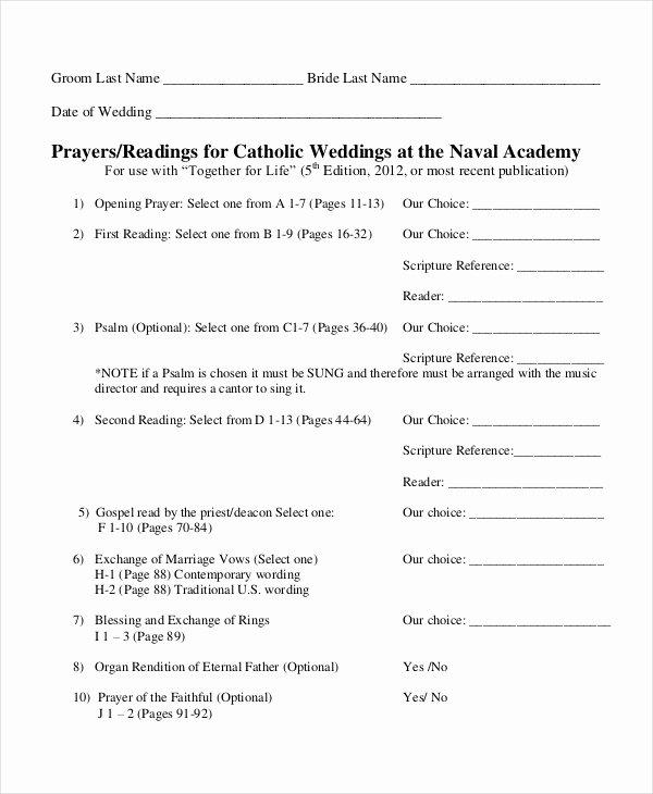 Free Catholic Wedding Ceremony Program Template Unique 10 Wedding Program Templates Free Sample Example