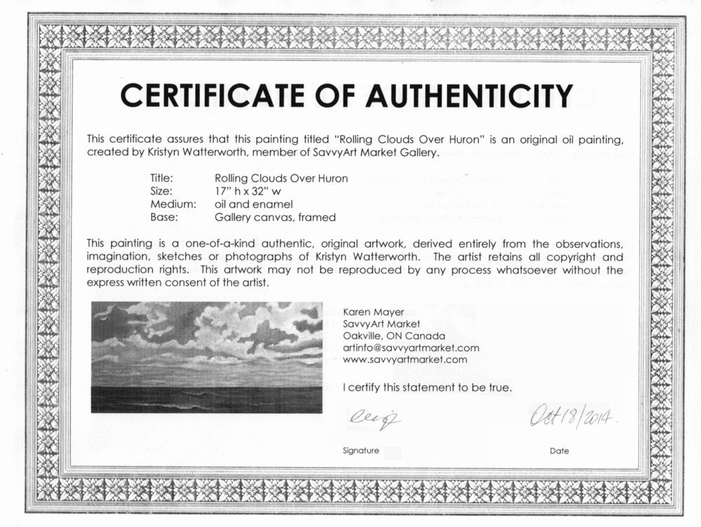 Free Certificate Of Authenticity for Artwork Template Best Of Sample Certificate Of Authenticity for originals
