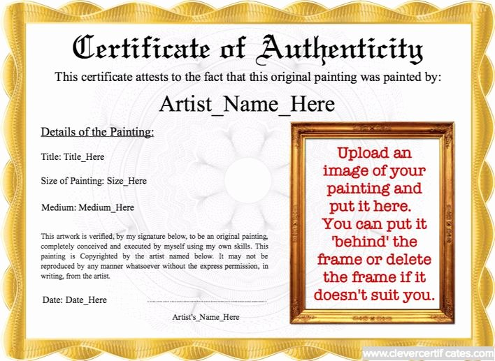Free Certificate Of Authenticity Template Lovely Download Best Student Certificate Of Authenticity Template