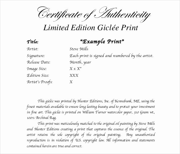 Free Certificate Of Authenticity Template Microsoft Word Lovely Certificate Of Authenticity Template Certificate