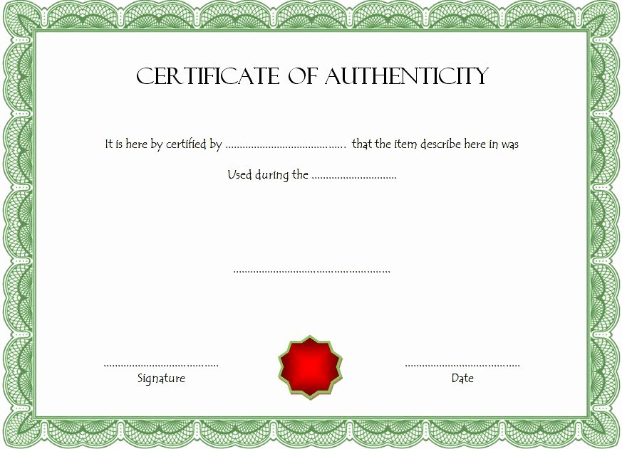Free Certificate Of Authenticity Template Microsoft Word Luxury Certificate Of Authenticity Templates Free [10 Limited