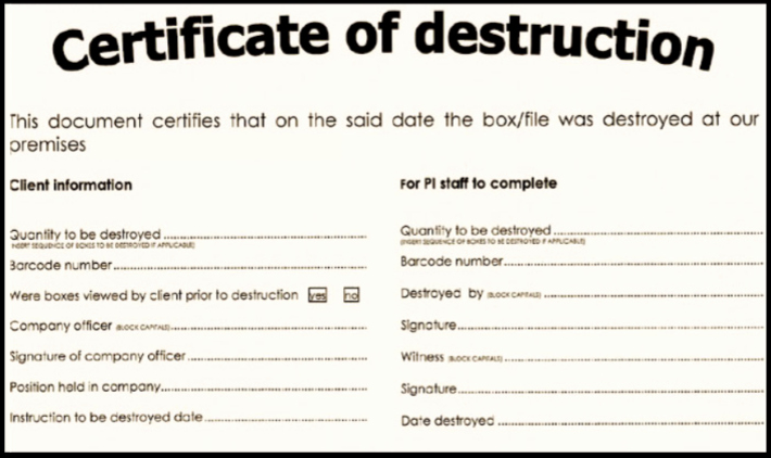 Free Certificate Of Destruction Template Best Of Certificate Of Destruction for Document Shredding