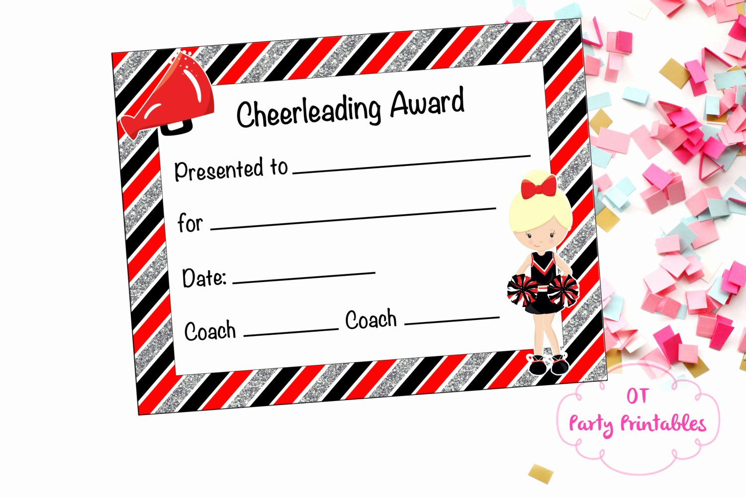 Free Cheer Award Certificate Templates New Cheerleading Certificate Cheerleading Award Cheerleading