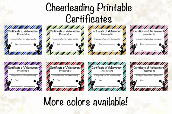 Free Cheer Award Certificate Templates Unique Cheerleading Certificate Cheerleading Award