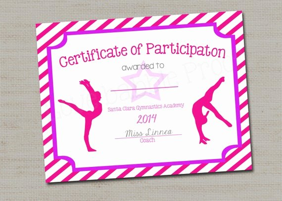 Free Cheer Award Certificate Templates Unique Gymnastics Award Certificate Dance Award Printable Digital
