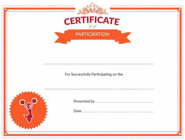 Free Cheer Award Certificate Templates Unique Printable Cheerleading Certificate Of Participation Award