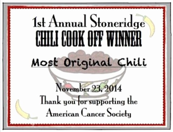 Free Chili Cook Off Award Certificate Template Awesome Items Similar to Chili Cook F Printable Certificates On Etsy