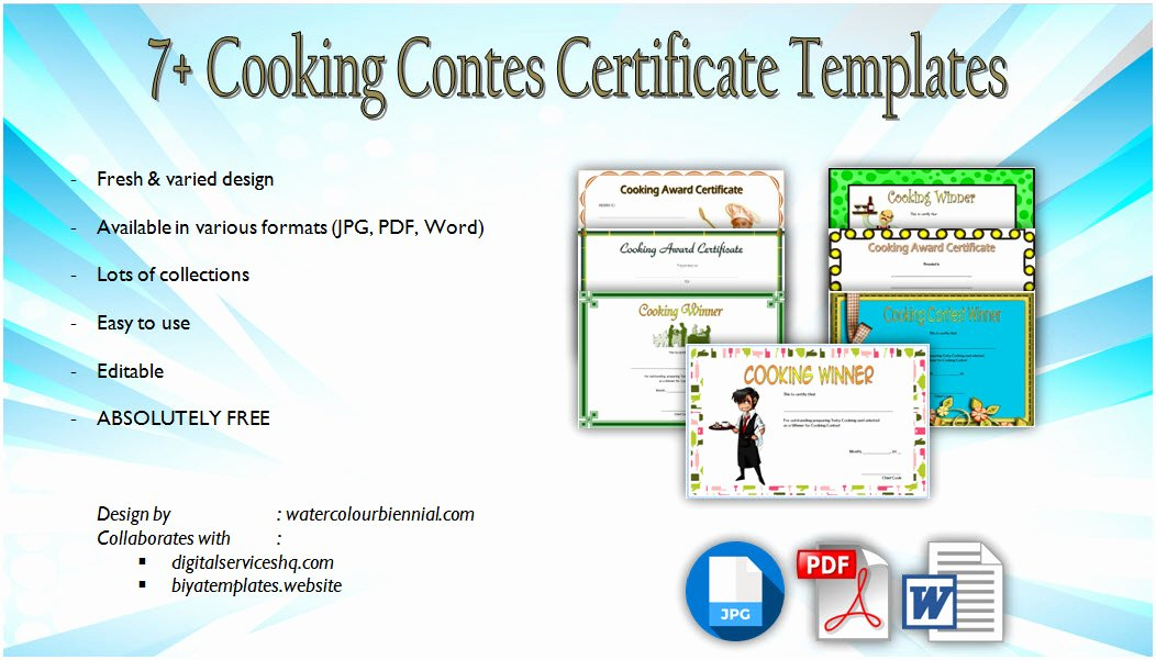 Free Chili Cook Off Award Certificate Template Beautiful Chili Cook F Certificate Templates [10 New Designs Free