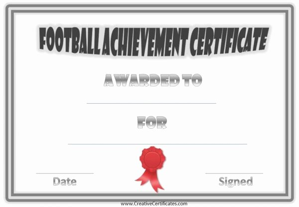 Free Customizable soccer Certificates Lovely Free Custom Football Certificates