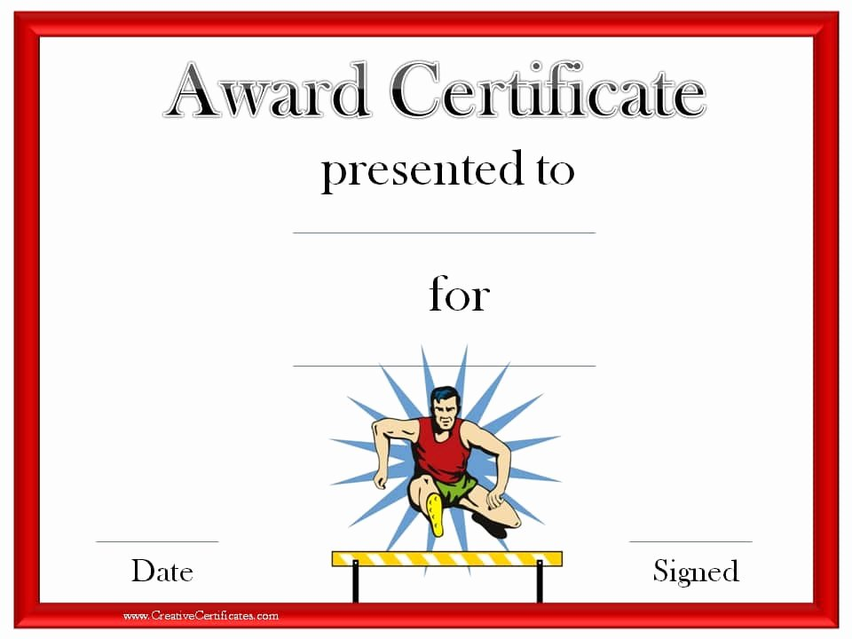 Free Customizable soccer Certificates Lovely Track and Field Certificate Templates Free & Customizable