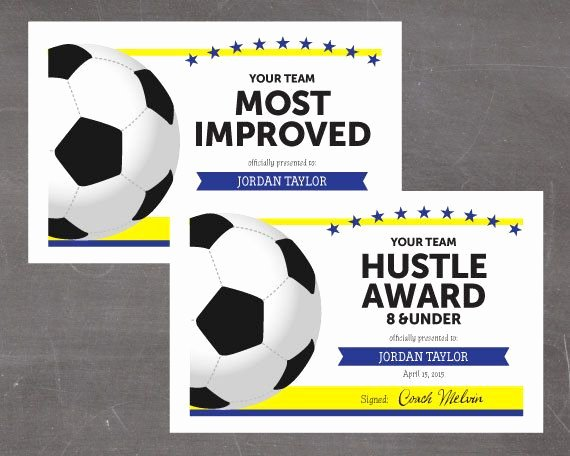 Free Customizable soccer Certificates Unique Best 25 Award Certificates Ideas On Pinterest