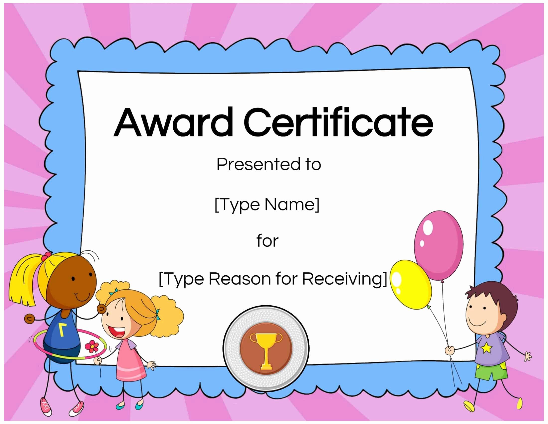 Free Customizable soccer Certificates Unique Free Custom Certificates for Kids