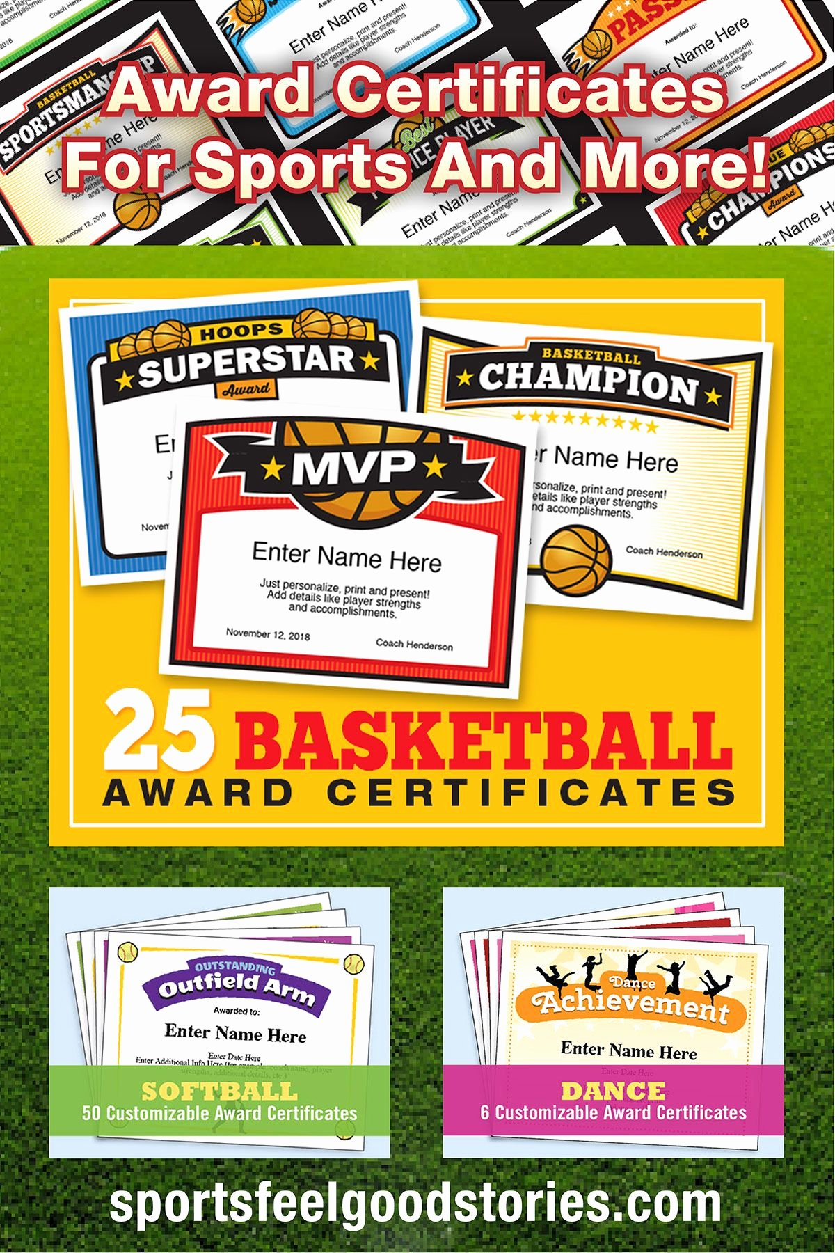 Free Customizable soccer Certificates Unique Inspirational Sports Stories