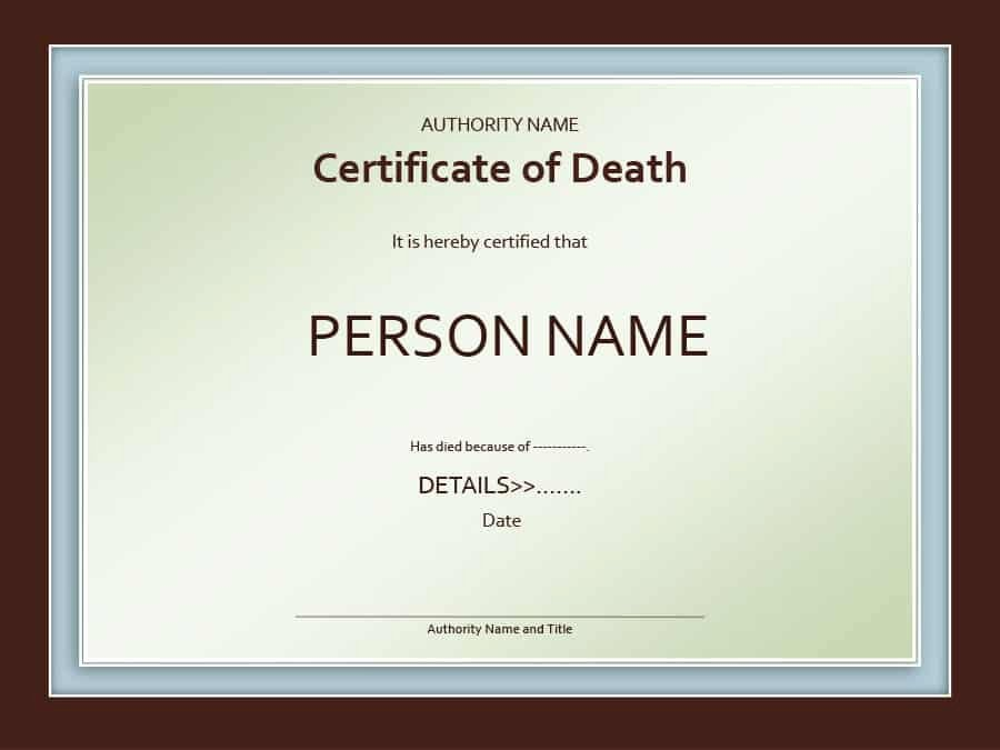 Free Death Certificate Template Awesome 37 Blank Death Certificate Templates [ Free]